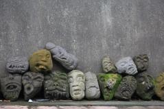 Rock wall, Ubud, Bali