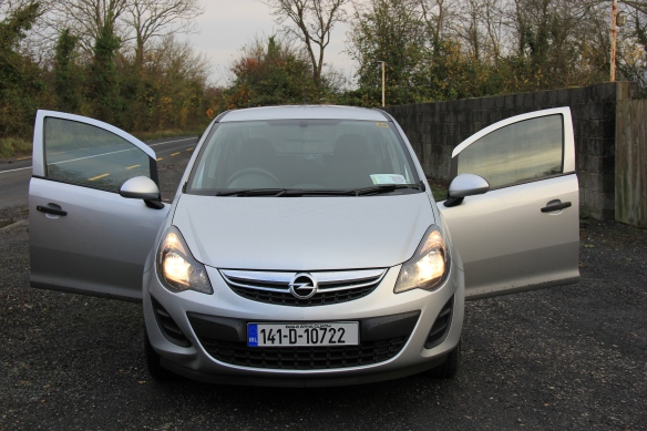 The luxury vehicle we rented in Ireland - the Opel!  Ha!