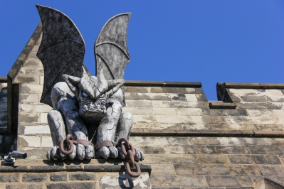 Gargoyle at the Eastern State Penitentiary