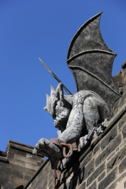 Gargoyle at the entrance of the Eastern State Penitentiary